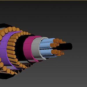 海底光缆模型