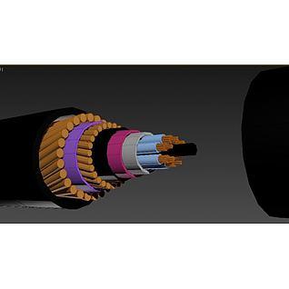 海底光缆3d模型