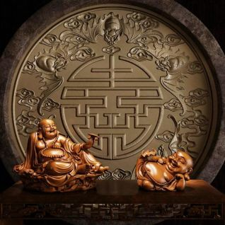 弥勒佛雕塑模型3d模型