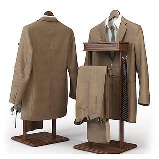 男士棕色西服3d模型