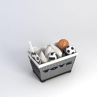 玩具收纳箱3d模型