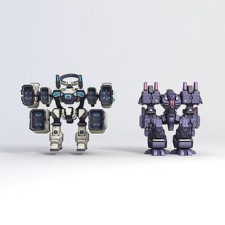主角崩坏3-机器人3d模型