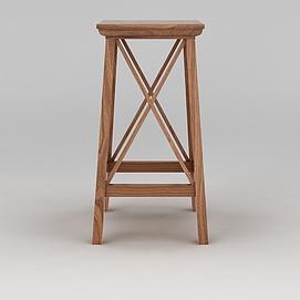 高脚木凳模型