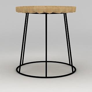 工业风凳子3d模型