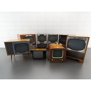 复古电视3d模型