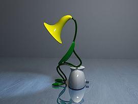 喇叭花台灯模型
