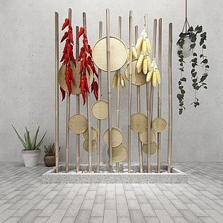 玉米大辣椒装饰3d模型