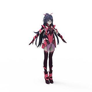 脉冲装绯红3d模型