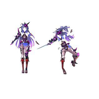 雷电女王的鬼铠3d模型