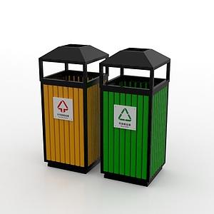 3d公共垃圾箱模型