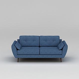 蓝色懒人沙发3d模型3d模型