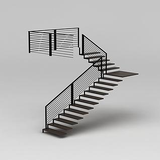 工作室楼梯3d模型
