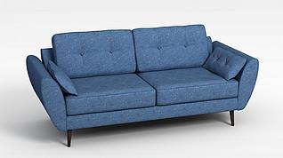 蓝色懒人沙发3d模型