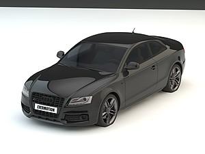 奧迪汽車模型3d模型