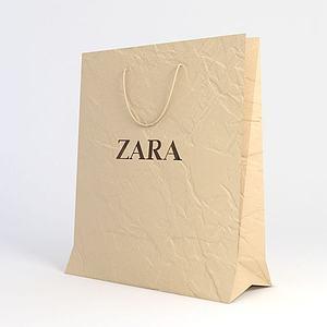 纸质包装袋模型