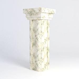 大理石柱模型