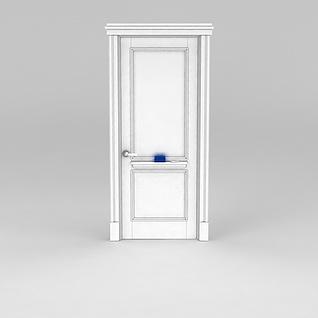 白色木门3d模型