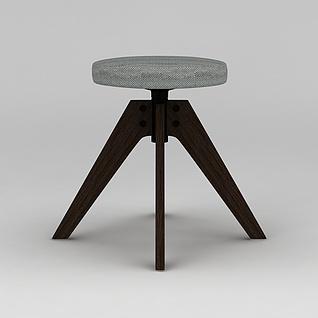 工业风凳子模型3d模型