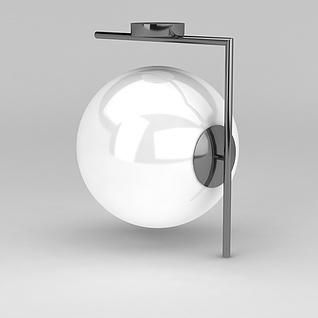 球形壁灯3d模型