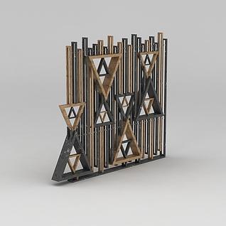工业风装饰墙3d模型3d模型
