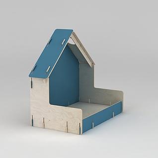 手工木房子3d模型