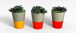 3d<font class='myIsRed'>花盆</font>模型