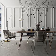 北欧餐桌椅组合3D模型3d模型
