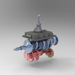 变速器操纵机构3d模型