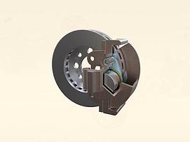 钳盘式制动器3d模型