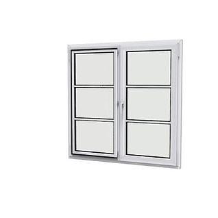 平推窗3d模型