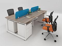现代职员办公桌椅组合3D模型3d模型