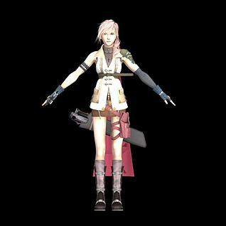 幻想游戏人物雷霆3d模型