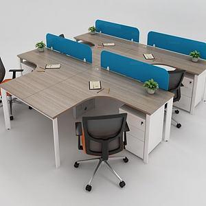 3d現代<font class='myIsRed'>辦公家具</font>桌椅模型