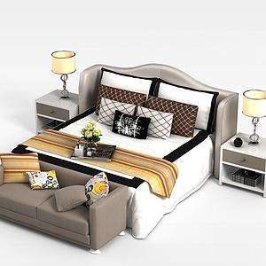 3d矮床模型