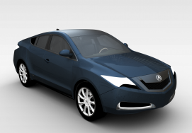讴歌ZDX<font class='myIsRed'>汽车</font>2010款<font class='myIsRed'>汽车</font>3d模型
