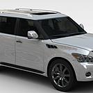 英菲尼迪QX汽车模型