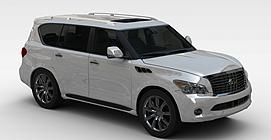 英菲尼迪QX<font class='myIsRed'>汽车</font>3d模型