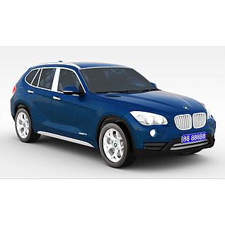 宝马X1_2013款汽车3d模型