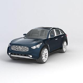 英菲尼迪FX汽车3d模型
