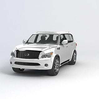 英菲尼迪QX汽车3d模型
