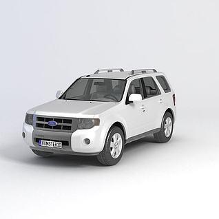 福特翼虎2012款汽车3d模型