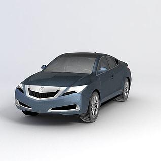 讴歌ZDX汽车2010款汽车3d模型