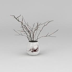 3d梅花<font class='myIsRed'>花瓶</font>模型