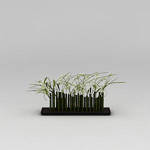3d竹子<font class='myIsRed'>花瓶</font>模型