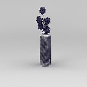 3d紫色<font class='myIsRed'>花瓶</font>模型