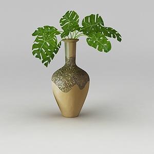 3d綠植<font class='myIsRed'>花瓶</font>模型