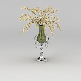 欧式精美花瓶模型