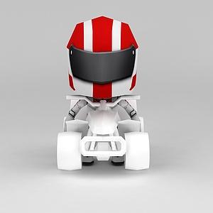 3d机器人模型摆件模型