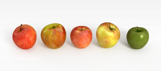 3d苹果模型