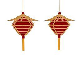 春节灯笼3d模型